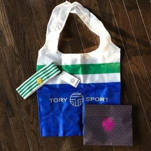 TORY BURCH sweat band, tote bag and gift box